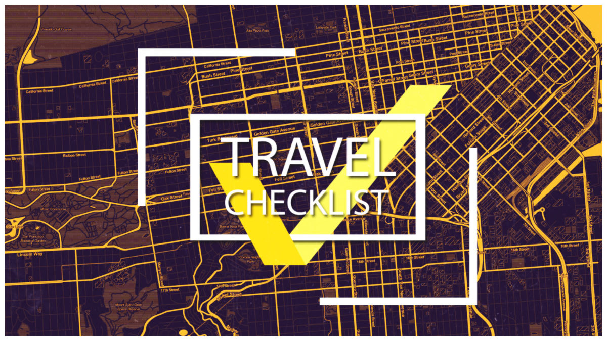 TRAVEL'S CHECKLIST