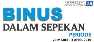 BINUS Dalam Sepekan (8 – 14 Maret 2019)