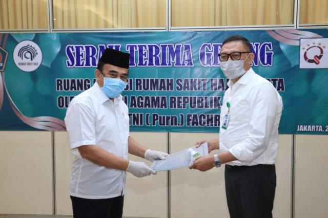 Menag serahkan Gedung Asrama Haji untuk isolasi pasien covid-19